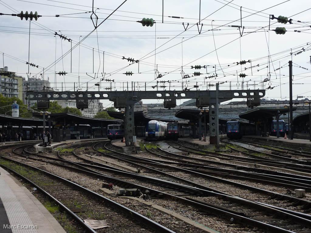Situation de la gare de l''Est principalement les voies banlieues